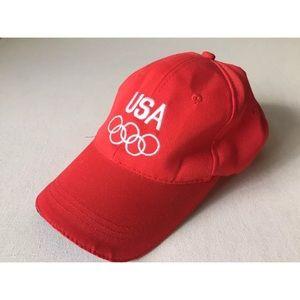 Other - Vtg Team USA Olympics Red Trucker Hat Baseball Cap